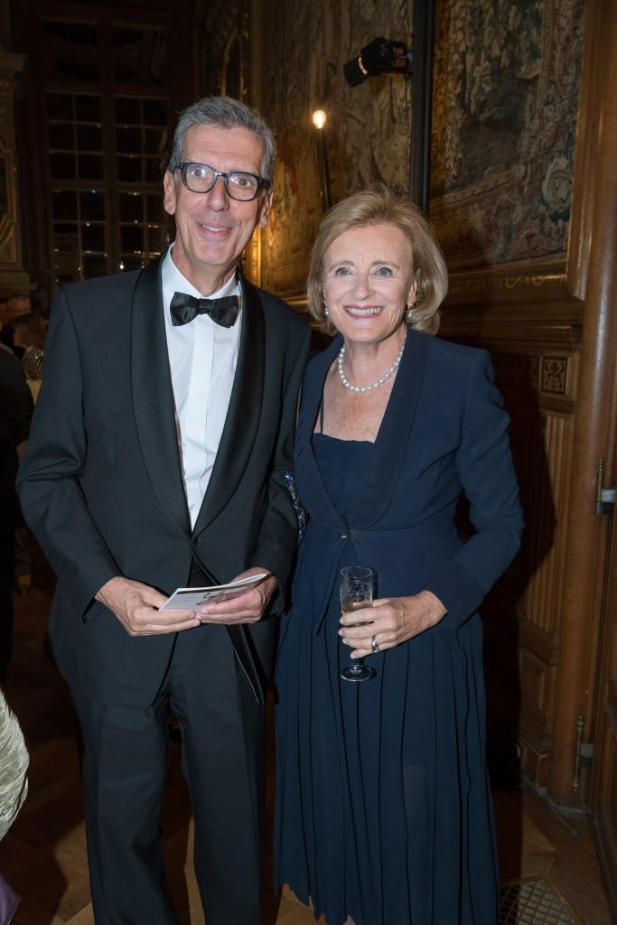 Henri Loyrette and Baroness Antoinette Seillière