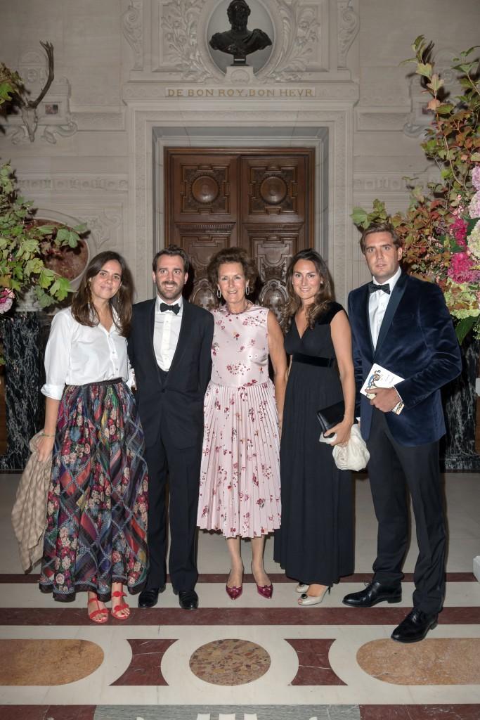 Daria Botin, Aymon Brunel, Nathalie Brunel, Milana and Maxime Gaignault