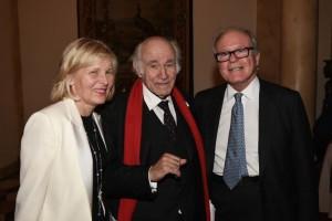 Annemarie Iverson, speaker Pierre Rosenberg, and Robert de Rothschild