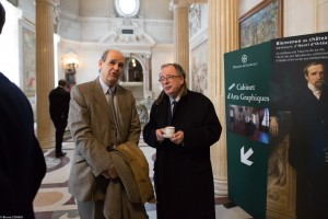 Gilles Andréani and Louis-Antoine Prat waiting for the visit to begin.