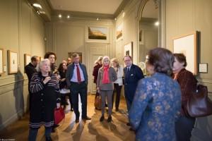 Nicole Garnier leading guests around the Rembrandt exhibition.