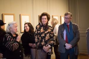 L-R: Thérèse de Bayser, Susan Kendall, Nathalie Brunel, and Ludovic de Montille taking in the Rembrandt exhibition.