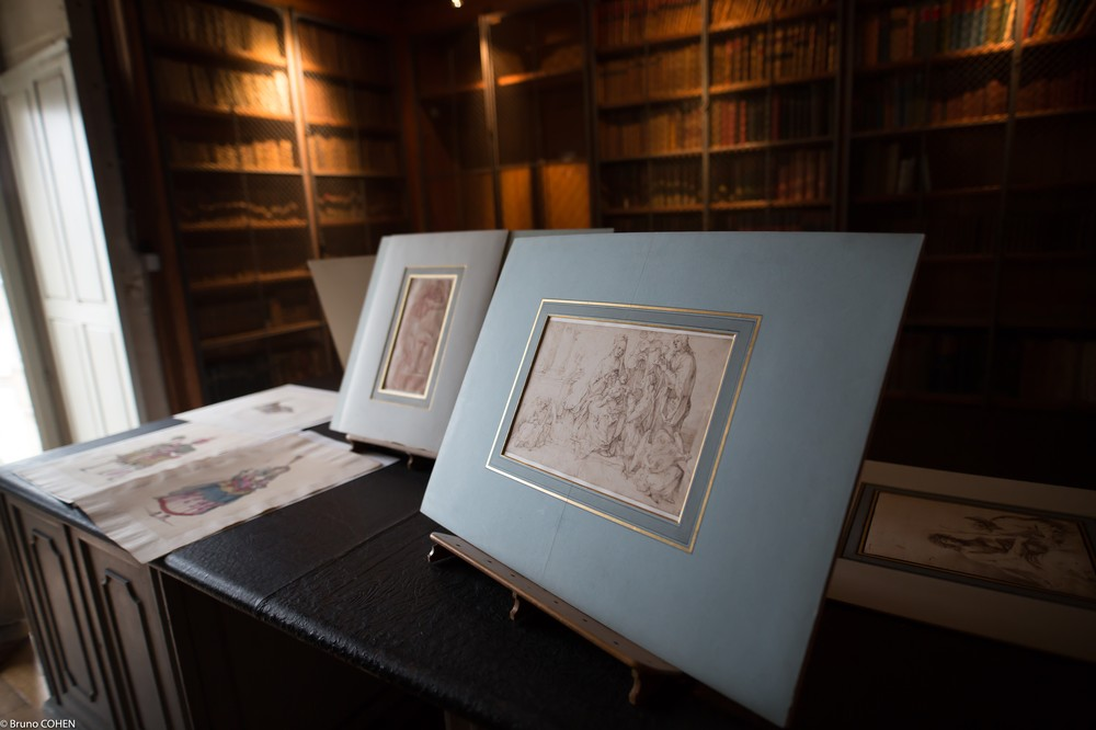 Some of the drawings guests were able to enjoy by Bellange, Raphael, and Dürer.
