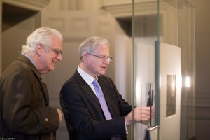 Alexander Johnson and Hinrich Sieveking at the Rembrandt exhibition.