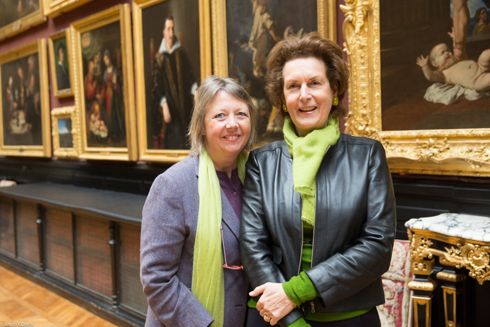 Laure de Gramont and Nathalie Brunel in the Gallery of Paintings