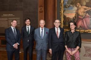 Ian Wardropper, Mathieu Deldicque, Prince Amyn Aga Khan, Philippe de Montebello, Inge Reist