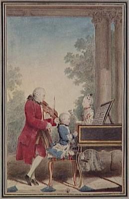 Mozart père, son fils et sa fille by Carmontelle