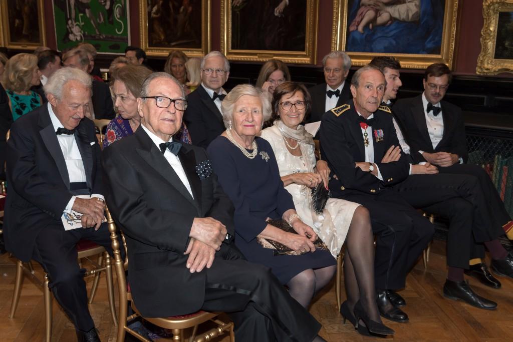 Front row (left to right): Prince and Princess Gabriel de Broglie, Nicole Garnier, General Jérôme Millet, Mathieu Deldicque, and Laurent Ferri; second row: Count and Countess Hélie de Ganay, Dr. Hinrich Sieveking, Alice Goldet and Olivier Bourgois