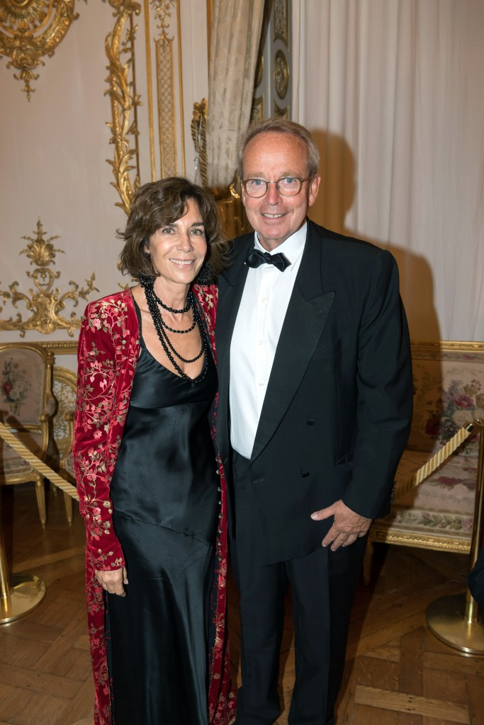 Christine Orban and former Minister of Culture Renaud Donnedieu de Vabres