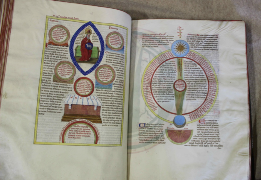 "Some pages of the ""Liber Floridus."""