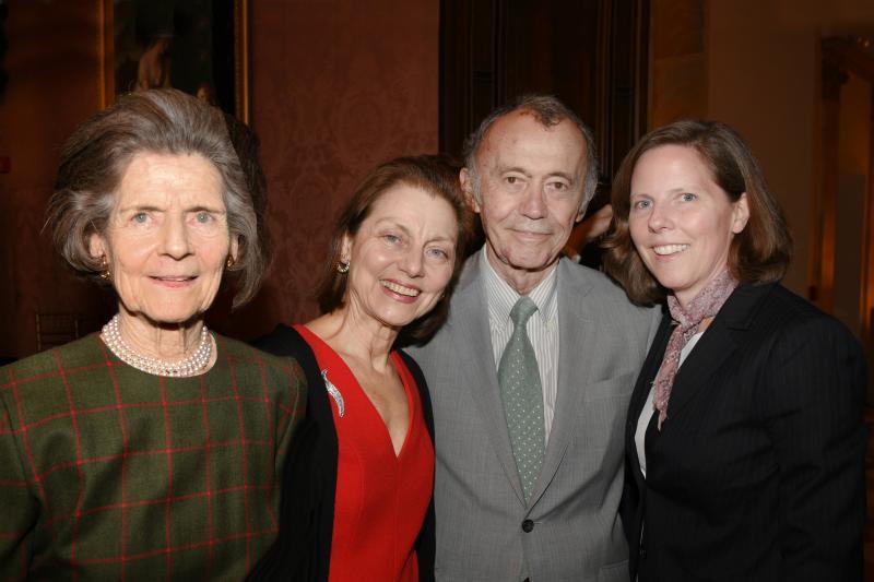Diane Nixon, FODC Director Betty Eveillard, Jean-Marie Eveillard, and Laura Bennett