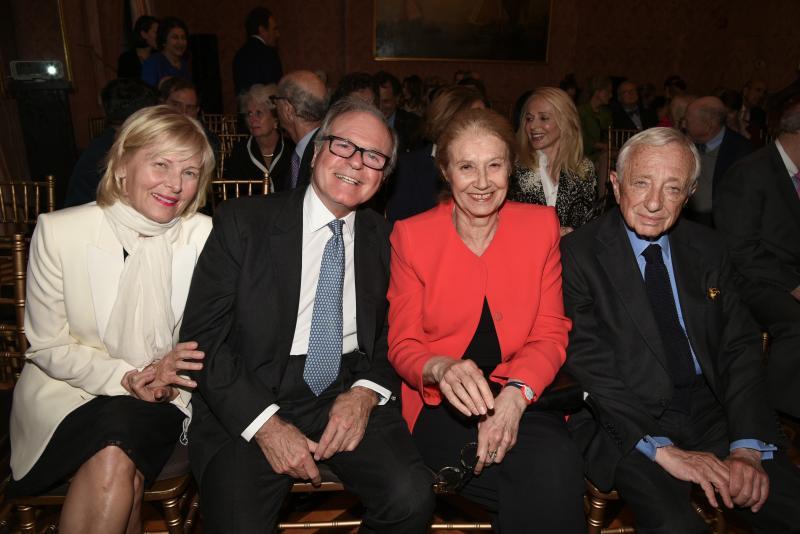 Annemarie Iverson and Robert de Rothschild, Anka Muhlstein, and Louis Begley
