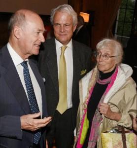 FODC Chairman Prince Amyn Aga Khan, Thomas F. Knapp, and Renata Adler