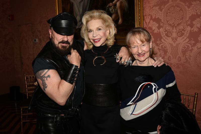 Peter Marino, Lynn Wyatt, and Jane Marino