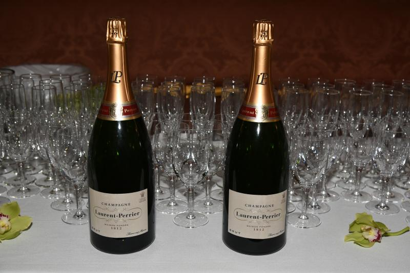 Champagne Laurent-Perrier on hand during the reception